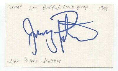 Grant Lee Buffalo - Joey Peters Signed 3x5 Index Card Autographed Signature Band