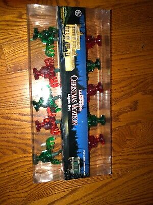 National Lampoon's Christmas Vacation Light Set New Colored Moose Mugs Green Red