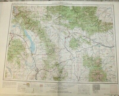 """1958 White Sulphur Springs, Montana Topographic Geological Map / 32"""" x 22"""" Size"""