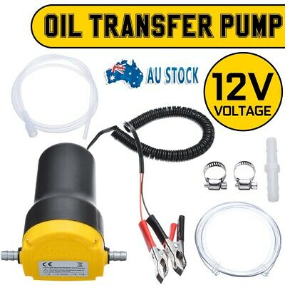 Oil Diesel Extractor Suction Pump Transfer Fluid Scavenge Change Car Boat 12V