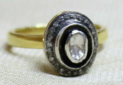 Amazing Victorian Style 0.85 ct Antique Rose Cut Diamond Ring Free Shipping
