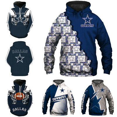 Dallas Cowboys Hoodie 3D Print Sweatshirt Football training Pullover Jacket Coat