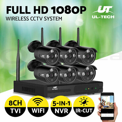 UL-tech CCTV Home Security Cameras System Wireless Outdoor IP Kit WIFI 1080P