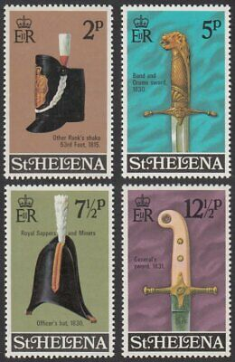St. Helena, 1973 Military Equipment (4th Series). SG 291-4 Unmounted Mint MNH