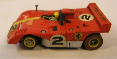 Vintage 1970`S Afx Aurora G-Plus Red Ferrari Race Car Slot Car Ho Scale