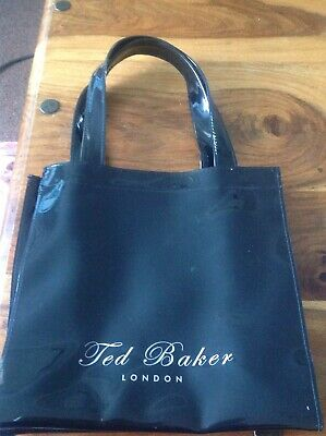 Top Designer Ted Baker Small Tote Bag Dress Shopping Lunch Girls Ladies Black