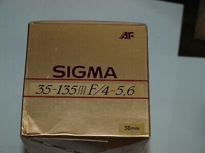 35-135mm f4-5.6 SIGMA AF UC ZOOM LENS NEW in BOX  for SONY ALPHA MINOLTA MAXXUM