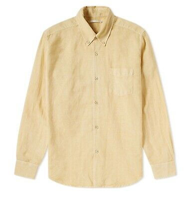 our legacy 1950s faded yellow linen shirt size 48/M *BRAND NEW WITH TAGS*