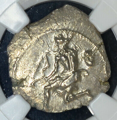 Cilicia Soloi 440-400BC silver Stater NGC MS Ancient Greece Amazon Grapes Satyr