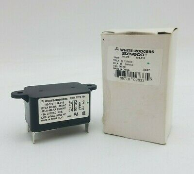 White-Rodgers Steveco 90-370 General Purpose Relay 184-916 Coil 24VAC 18A NOS