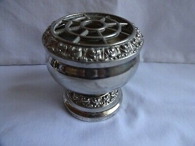 Vintage Silver-Plated Rose Bowl, Ianthe Of England Height 8 cm Diameter 8 cm