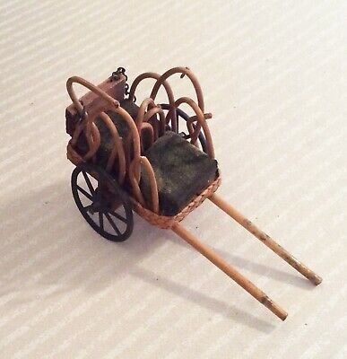 Antique Miniature RICKSHAW with METAL WHEELS  19th c. CHINA