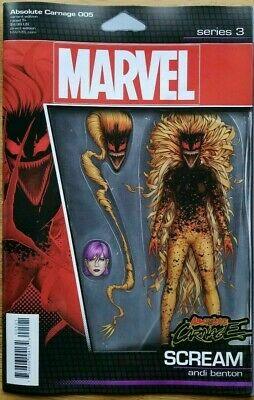 Absolute Carnage #5 Christopher Action Figure Variant Comic 1st Print 2019 NM