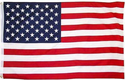 3'x5' ft American Flag Sewn Stripes Embroidered & Poly Stars Brass Grommets USA