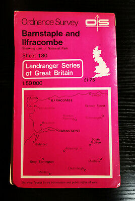 Ordnance Survey Landranger 1:50000 map - Sheet 180 - Barnstable & Illfracombe