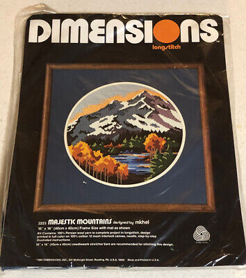 Dimensions Longstitch Kit 2223 Majestic Mountains New! Free Shipping!