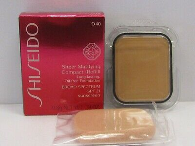 Shiseido Sheer Matifying Compact Foundation Refill O40 Natural Fair Ochre SPF21