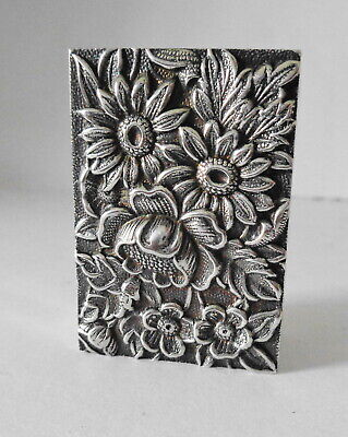 Vintage S. Kirk & Son Sterling Silver Repousse Pattern Match Book Cover