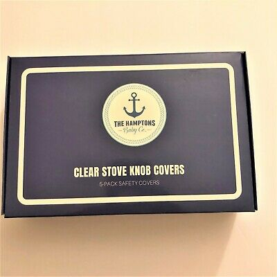 Safety Stove Knob Covers By The Hamptons Baby Co. 5 Pack Clear Safety Covers.