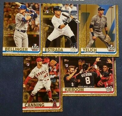 2019 Topps Update Gold Foil US1-US300 Rookies Veterans Pick Your Player