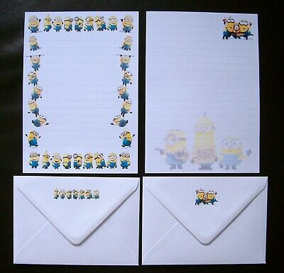 Minions from Despicable Me Letter Writing Paper Stationery Set