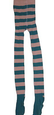 Marie Chantal Cotton Blend Blue + Pink Stripe Tights 10-12 Years NWOT SP £22