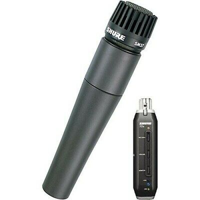 Shure SM57-X2U Instrument Microphone with XLR to USB Signal Adapter