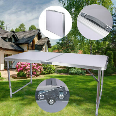 4FT Portable Catering Camping Heavy Duty Folding Trestle Table Picnic BBQ Party