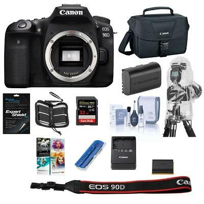 Canon EOS 90D DSLR Camera Body - With Free PC Free accessory Bundle #3616C002 A