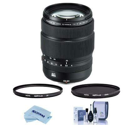 Fujifilm GF 32-64mm f/4 R LM WR Wide-Angle Zoom Lens With Hoya Filter Kit