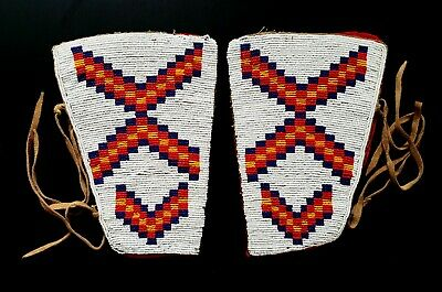 Antique Native American Blackfoot Pair of Cuffs