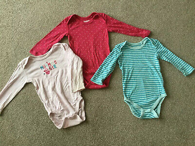 Three (3) Long Sleeve Vests 6-12 Months, 74/80 Cms Lupilu REDUCED
