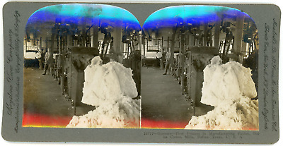 Stereo, USA, Texas, Dallas cotton mills, openers, first process in manufacturing