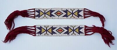 Antique Native American Plains Omaha? Garters - Late 19th Century