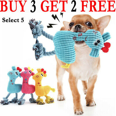 New Pet Dog Puppy Chicken Chew Toy Squeaker Squeaky Soft Plush Play Sound Toys C