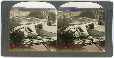 Stereo, USA, New York state, Rome, Erie canal and Mohawk river, circa 1900 Vinta