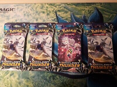 Sun & Moon: Lost Thunder ***X4 Sealed POKEMON Blister Booster Packs*** TCG