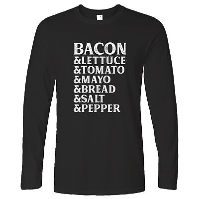 BLT Long Sleeve Bacon Lettuce Tomato Sandwhich List Of Ingredients