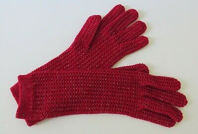 NWOT NEW ECHO Red Gloves Womens Soft Knit Sparkly Size Medium (M)