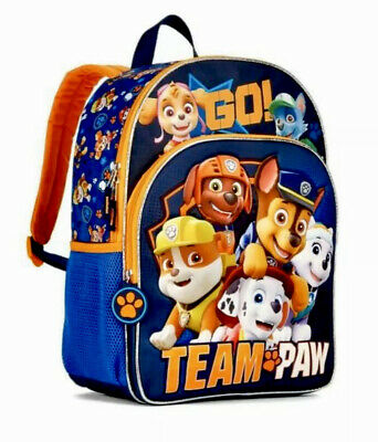 """Paw Patrol 16/"""" Large School Backpack Canvas Book Bag NEW"""