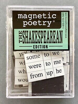 Magnetic Poetry ~ The Shakespearean Edition ~Brand New In Box