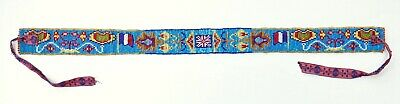 Native American Blackfoot Beaded Belt with Flags