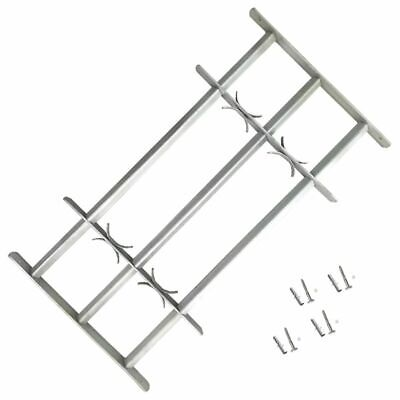vidaXL Adjustable Security Grille for Windows with 3 Crossbar 1000-1500mm Safe#