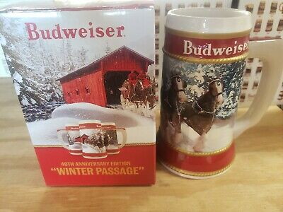 "2019 Budweiser Holiday Stein ""Winter Passage"""