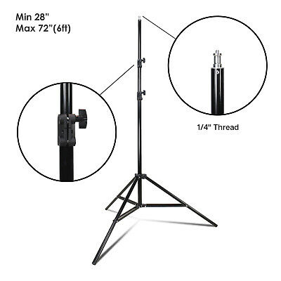 NEW Compact Light Stand Tripod 6ft for Photography Photo Studio Video