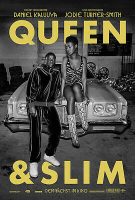 C180 Queen & Slim Movie Daniel Kaluuya new hot poster Art Silk Print wall decor