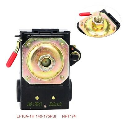 Heavy Duty Pressure Switch for Air Compressor 26 Amp 140-175 PSI Single One Port