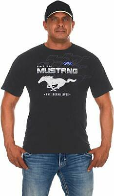 Men's Ford Mustang T-Shirt Gray 2-sided Collage Logos Ford MUS803CLG0GRY