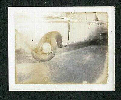 Vintage Bad Polaroid Photo Unusual View 1960s Car Abstract Wreck 393136