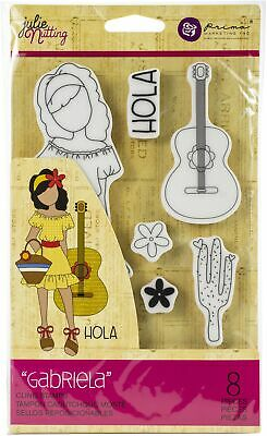 Prima Marketing Julie Nutting Mixed Media Cling Rubber Stamp-Gabriela